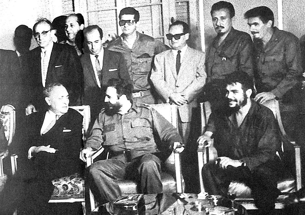 Con Fidel Castro y Che Guevara