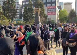 La saboteada marcha feminista