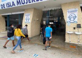 La ampliación del túnel sanitizante agiliza el movimiento de pasajeros en Isla Mujeres