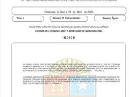 Anuncia el gobernador Carlos Joaquín, nuevos estímulos fiscales por la situación sanitaria del Covid-19